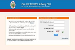 JoSAA round 7 seat allotment results 2019 published at josaa.nic.in | Direct link available here
