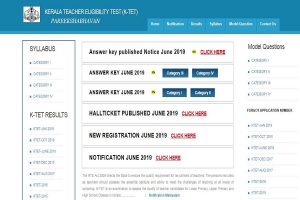 Kerala TET answer keys 2019 declared at ktet.kerala.gov.in   Direct link available here