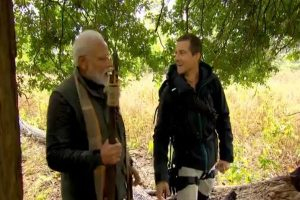 Watch PM Modi with raft and spear in Aug 12 episode of Man vs Wild