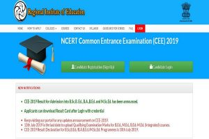 NCERT CEE results 2019 declared at cee.ncert.gov.in   Direct link to check results here