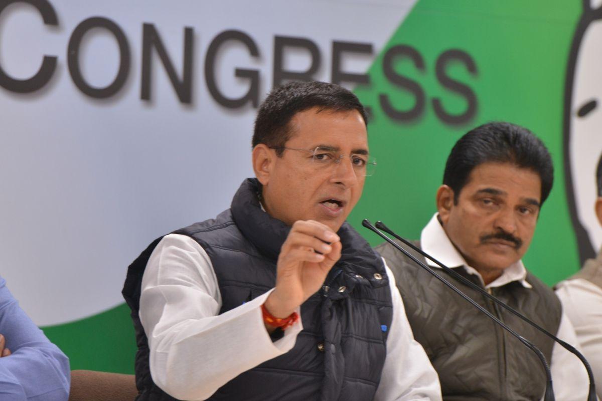Congress, Randeep Surjewala, BJP