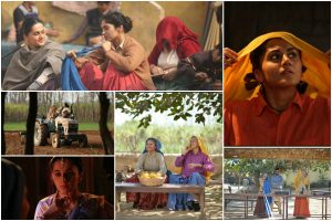 Watch Taapsee Pannu, Bhumi Pednekar from Saand Ki Aankh prep photoshoot