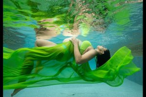 Sameera Reddy flaunts baby bump in underwater photoshoot