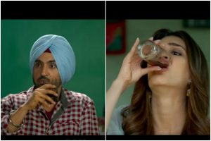 Watch Diljit Dosanjh, Kriti Sanon 'Sip Sip' alcohol in Arjun Patiala's latest song