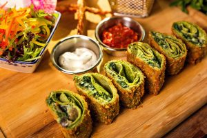 Recipe: Healthy and low fat Spinach roll