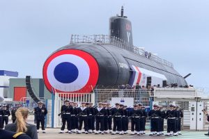 French President Macron unveils first nuclear attack 'Barracuda' class submarine