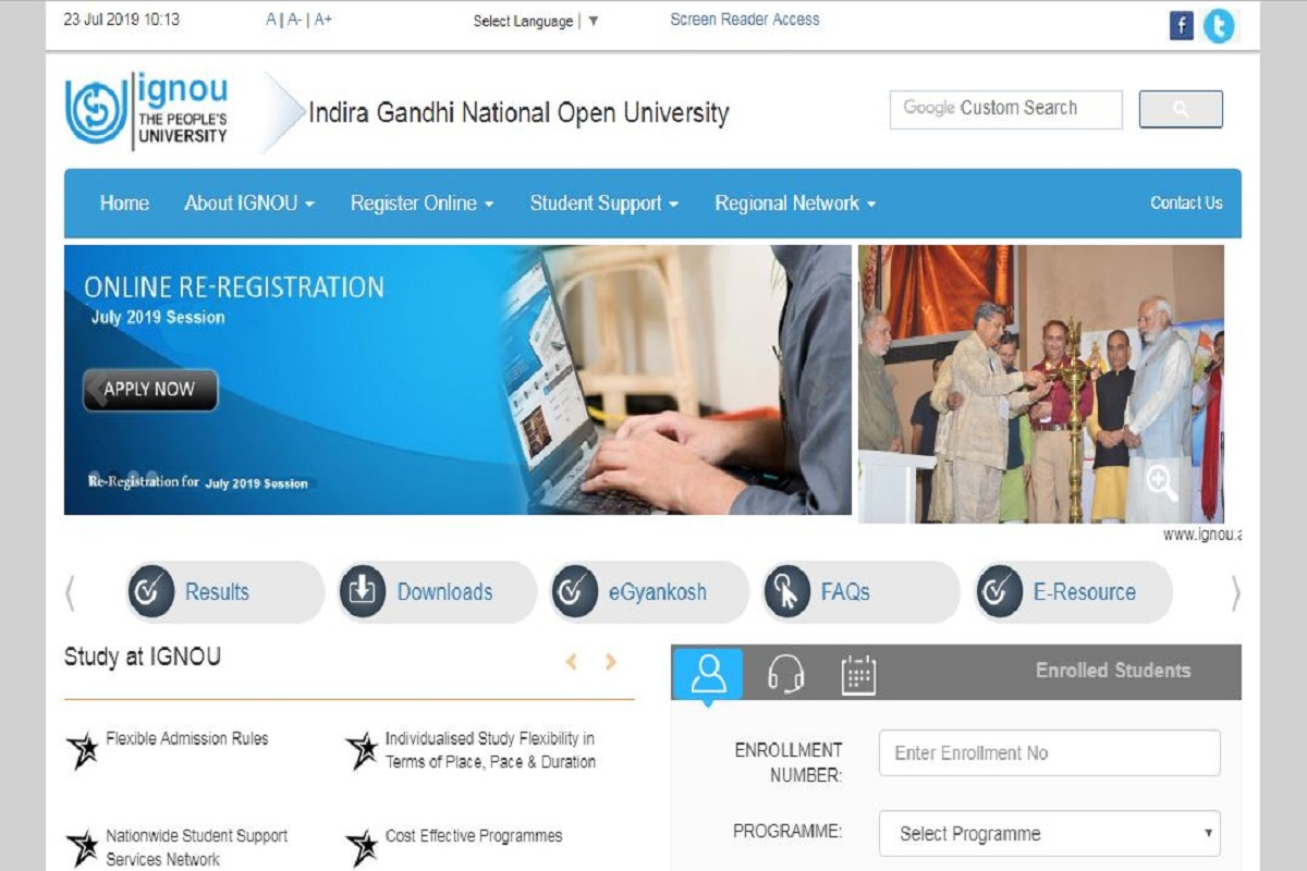 IGNOU June Term-end results 2019, ignou.ac.in, IGNOU term-end results, IGNOU June Term-end results, Indira Gandhi National Open University