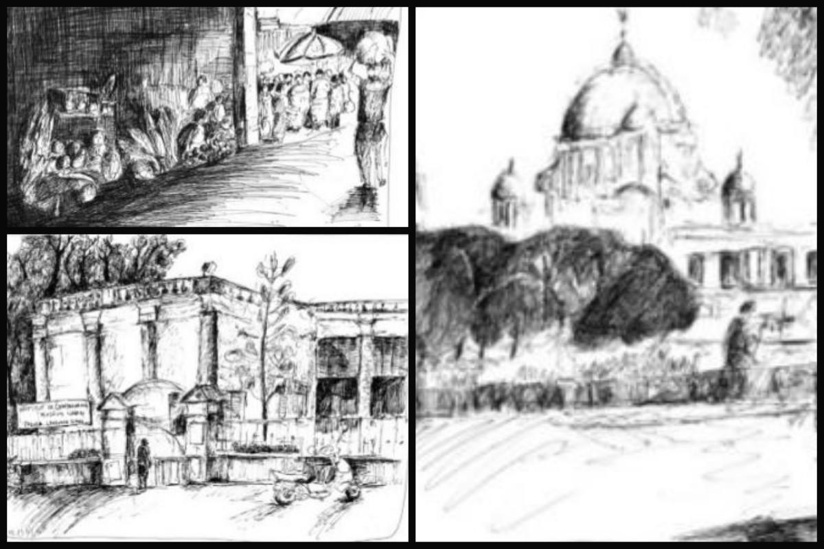 Kolkata, Ballade Au Crayon Noir: Where Heritage Meets Life, Jacques Servières, Alliance Française du Bengale, Victoria Memorial, Rajesh Sen, art work, nostalgia