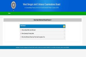 WBJEE Counselling 2019: First seat allotment results declared at wbjee.nic.in, link to check schedule here