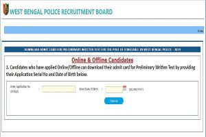 West Bengal Police Constable admit cards 2019 released at wbpolice.gov.in | Direct link to download admit cards here