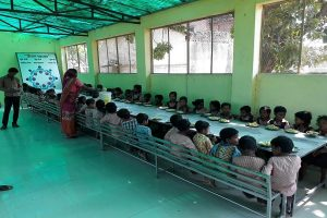Students of Uttar Pradesh govt primary school served salt and roti under mid-day meal scheme