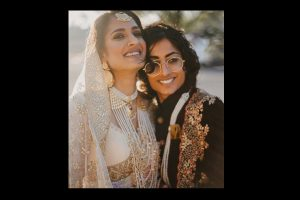 Indo-Pak lesbian couple look regal in fairy tale wedding