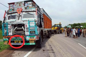 New twist to Unnao truck collision, why was number plate blackened?