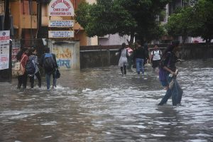 Train services suffer, 400 rescued by boats as rains pound Mumbai