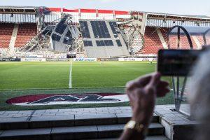 AZ Alkmaar's AFAS stadium suffers roof collapse as strong winds hit Netherlands