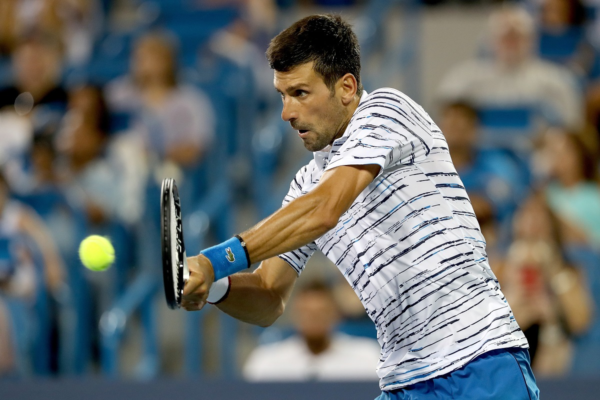 Novak Djokovic, Cincinnati Masters, Lucas Pouille, Daniil Medvedev