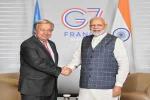 G7 Summit: PM Modi reaches France, meets UN Secretary General