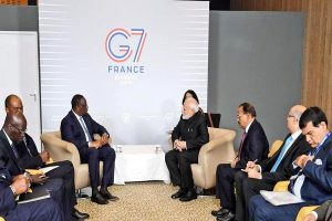 G7 Summit: PM Modi holds bilateral meeting with President of Senegal