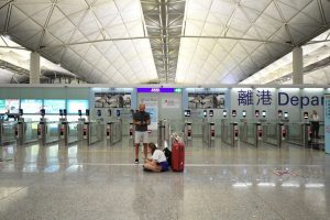 Hundreds of flights cancelled from Hong Kong airport amid political crisis