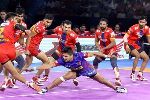 PKL 7 Update: Naveen Kumar stars as Dabang Delhi beat UP Yoddha 36-27