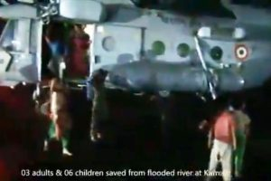 IAF rescues Civil lives from flooded field in Haryana