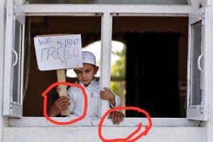 "Kashmiri children being used for fake ""freedom"" propaganda"