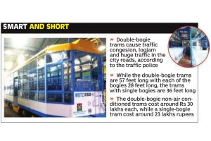 Double-bogie trams to be replaced by single bogie, six to roll out before Pujas