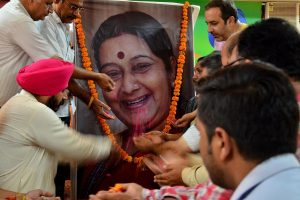 India bids farewell to Sushma Swaraj; ex-EAM cremated with state honours, PM, top leaders present