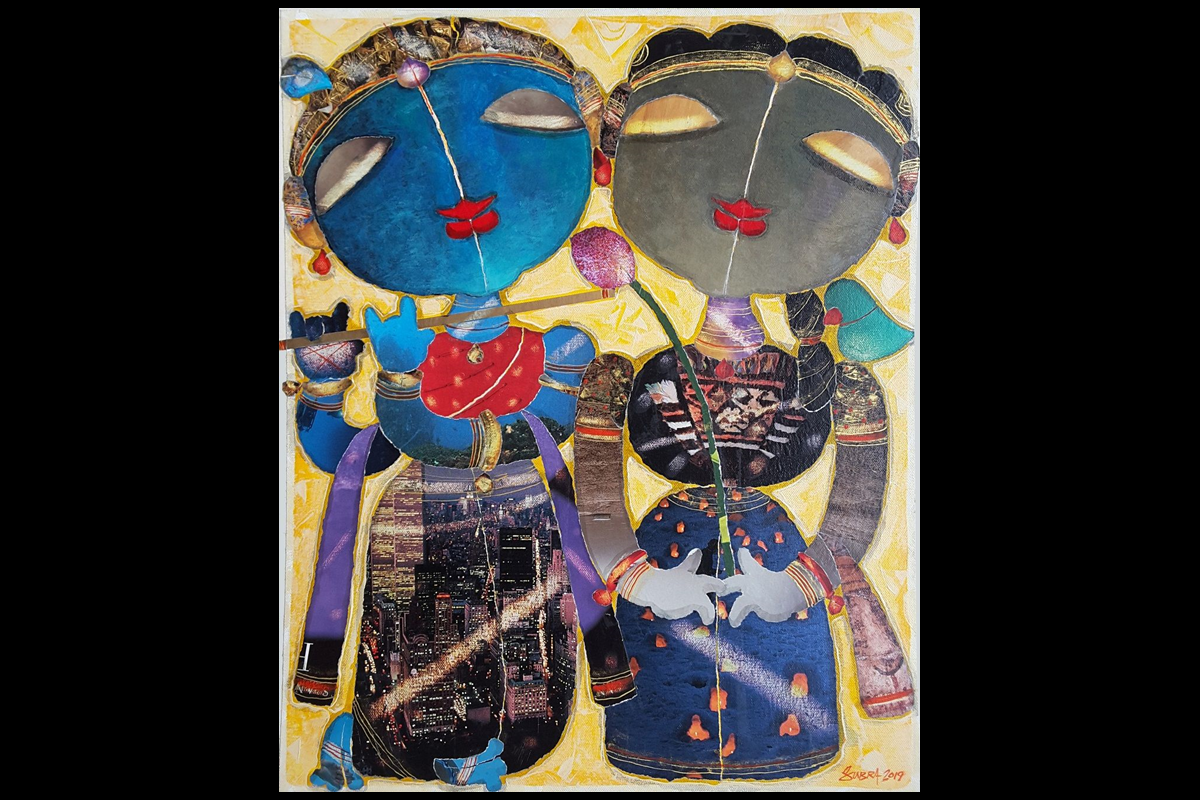 Divine Intervention, Lord Krishna, Spice Art Gallery, Babita Gupta, artists,