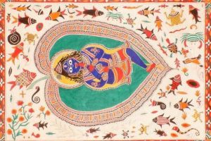 Krishna as the Divine Child on Banyan Leaf
