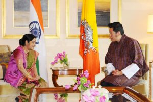 Bhutan King offers special prayers, lights thousand lamps in Sushma Swaraj's memory