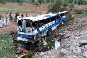 24, including women and children killed in road accident in Pakistan