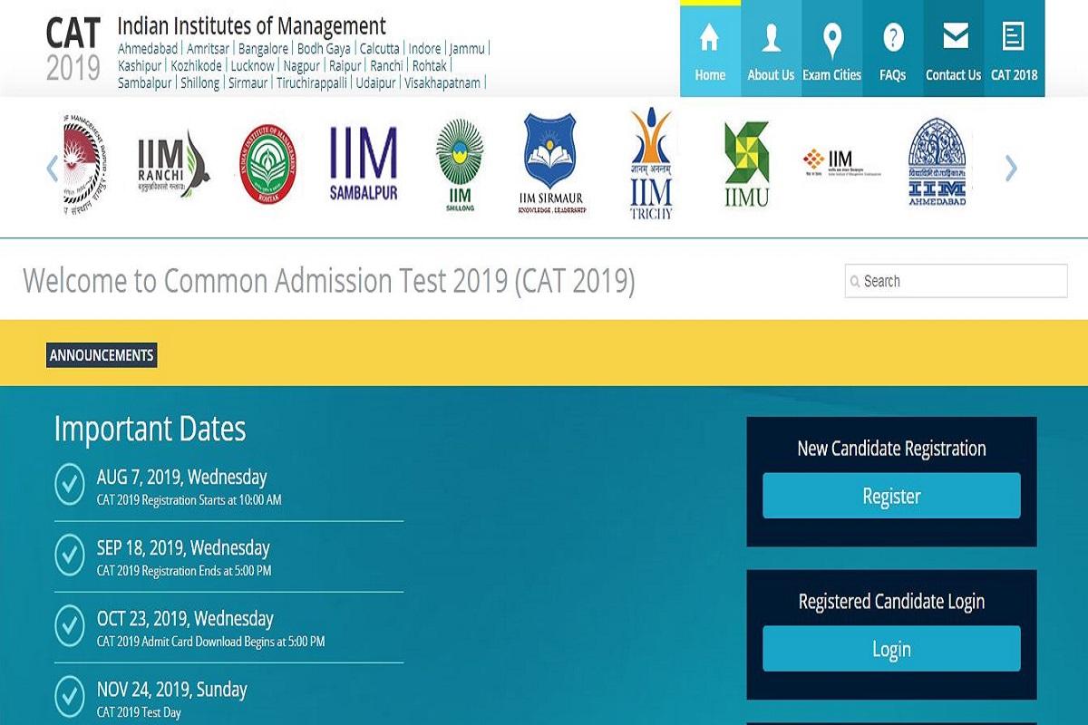 IIM CAT 2019, iimcat.ac.in, Common Admission Test 2019, IIM CAT registration, CAT 2019 registration