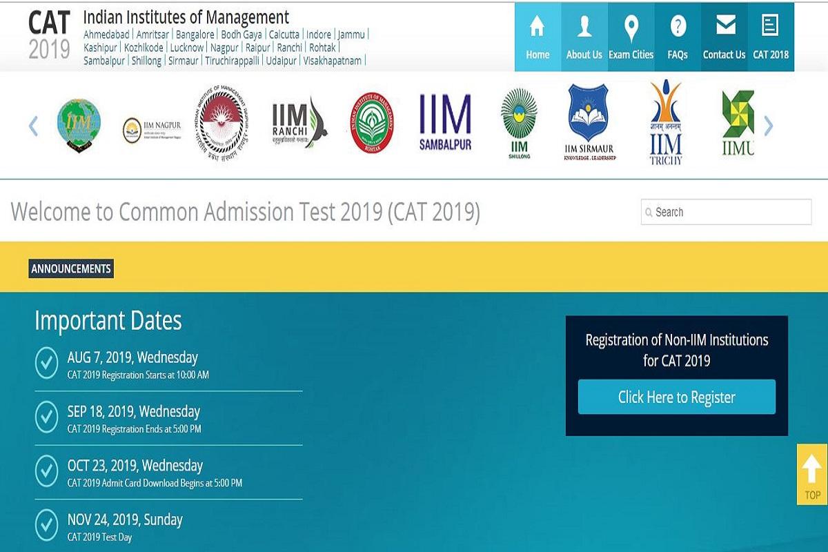 CAT 2019, CAT 2019 registration process, iimcat.ac.in, Common Admission Test 2019, CAT Registration