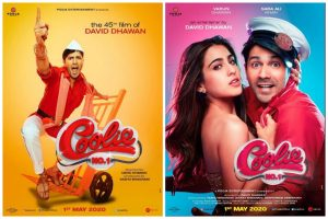 Sara Ali Khan, Varun Dhawan unveil first look posters of Coolie No 1 on her birthday