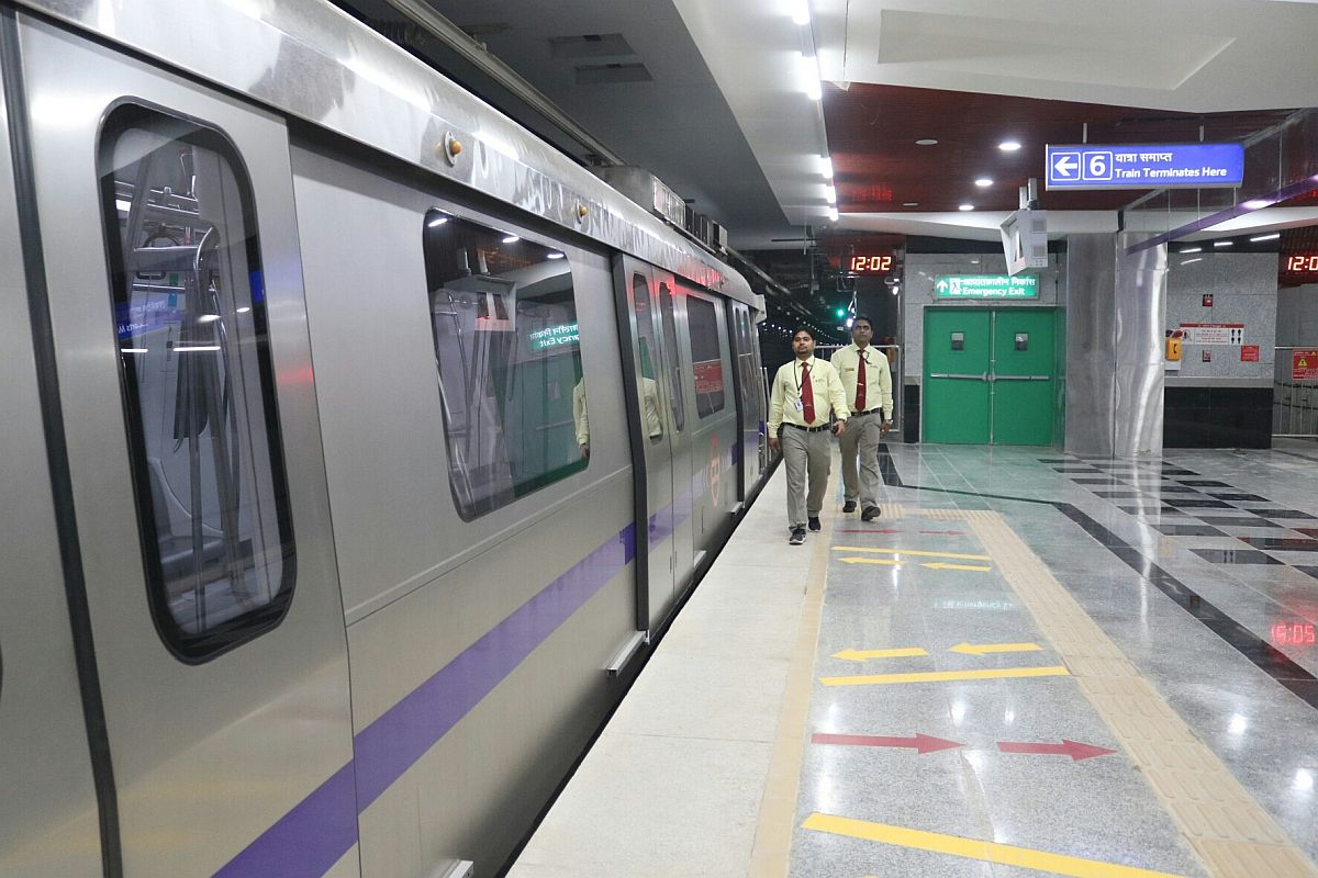 Woman jumps in front of train at Delhi metro station, dies