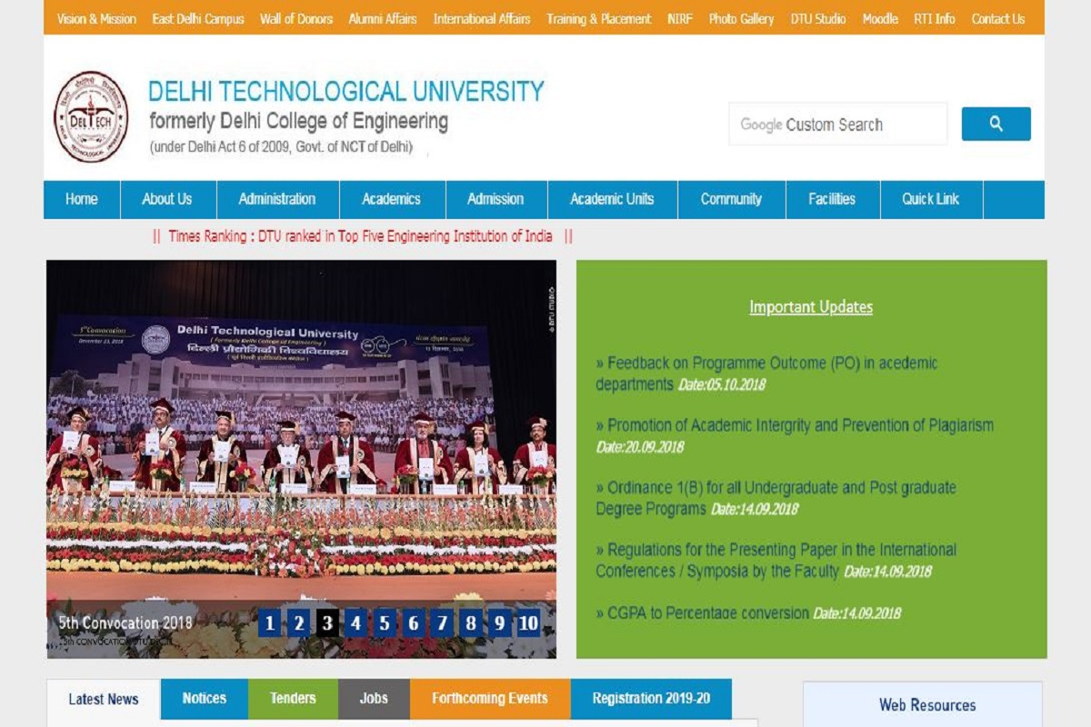 DTU recruitment 2019: Applications invited for Assistant Professor posts, apply by September 30 at dtu.ac.in
