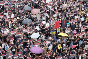 1.7 million people come out in Hong Kong to restore peace