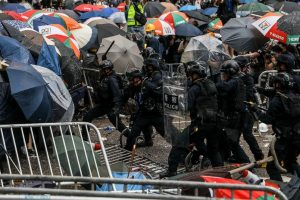 Hong Kong protests: Thousands of teachers out on streets to back youth protesters