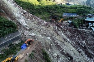 17 missing after rock collapse in Southwest China