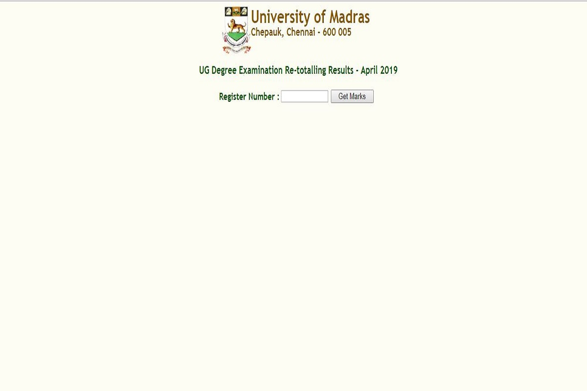 MU UG degree re- totalling result 2019, MU UG degree results, Madras University results, unom.ac.in, MU UG degree re- totalling result