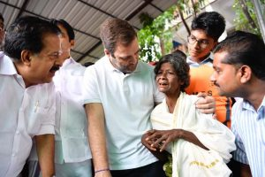 Rahul Gandhi visits relief camps in flood-hit Wayanad, appeals for help in Facebook post