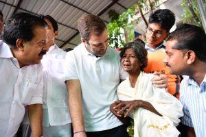 Rahul Gandhi visits relief camps in flood-hit Wayanad, appeals for help in Facebook post