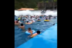 44 injured as water park wave machine triggers 'tsunami' in China