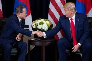 Trump meets Moon Jae-in, discusses plans to restart talks with North Korea
