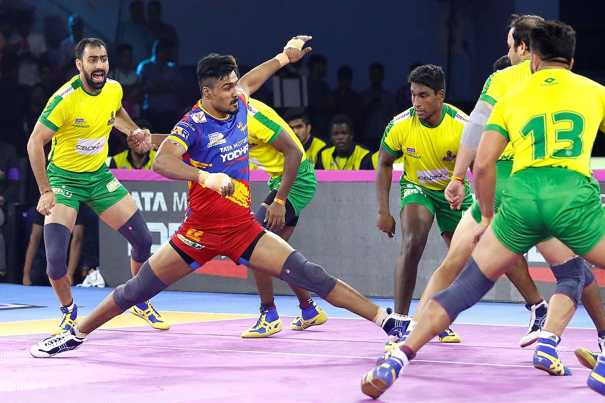 PKL 7 Update: UP Yoddha thrash Tamil Thalaivas 42-22; Gujarat draw 28-28 with Jaipur