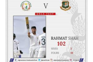 Rahmat Shah becomes 1st Afghan player to score Test century