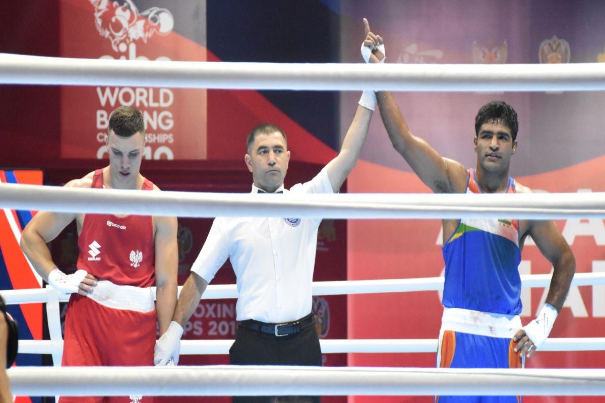 Brijesh Yadav, World Men's Boxing Championships, Maleusz Goinski, Bayram Malkan
