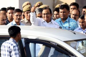 Ghulam Nabi Azad, Ahmed Patel and son Karti meet P Chidambaram in Tihar jail