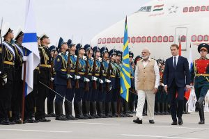 Prime Minister Modi arrives in Russia for 'short but important visit'